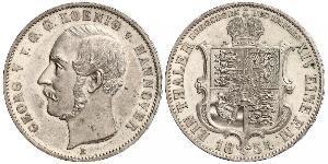 1 Талер Ганновер (королевство) (1814 - 1866) Серебро Георг V (король Ганновера) (1819 - 1878)