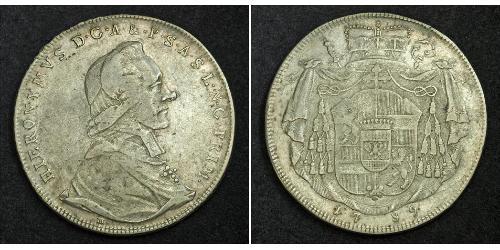 1 Талер Зальцбург Серебро Count Hieronymus von Colloredo (1732 - 1812)