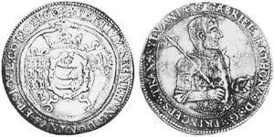 1 Талер Княжество Трансильвания (1571-1711) Серебро Gabriel Báthory (1589 – 1613)