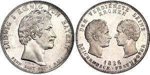 1 Талер Королевство Бавария (1806 - 1918) Серебро
