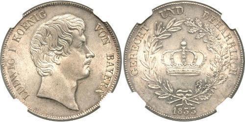 1 Талер Королевство Бавария (1806 - 1918) Серебро Людвиг I (король Баварии)(1786 – 1868)