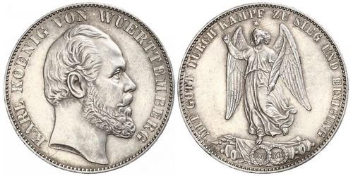 1 Талер Королевство Вюртемберг (1806-1918) Серебро Карл I (король Вюртемберга)