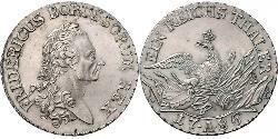 1 Талер Пруссия (королевство) (1701-1918) Серебро Фридрих II (король Пруссии) (1712 – 1786)