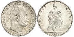 1 Талер Пруссия (королевство) (1701-1918) Серебро Wilhelm I, German Emperor (1797-1888)