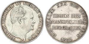 1 Талер Пруссия (королевство) (1701-1918) Серебро Фридрих Вильгельм IV (1795 - 1861)
