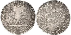 1 Талер Саксония (королевство) (1806 - 1918) Серебро