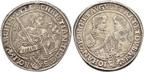 1 Талер Саксония (курфюршество) (1356 - 1806) Серебро Кристиан II (курфюрст Саксонии)