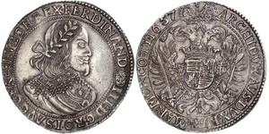 1 Талер Священная Римская империя (962-1806) Серебро Ferdinand III, Holy Roman Emperor (1608-1657)
