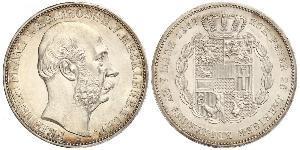 1 Талер Duchy of Mecklenburg-Schwerin (1352-1918) Серебро Фридрих Франц II (великий герцог Мекленбург-Шверина)