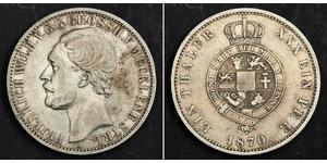 1 Талер Duchy of Mecklenburg-Schwerin (1352-1918) Серебро Фридрих Вильгельм II (великий герцог Мекленбург-Стрелица)