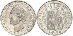 1 Талер Grand Duchy of Oldenburg (1814 - 1918) Серебро Август I (великий герцог Ольденбургский)