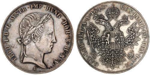 1 Талер Австрійська імперія (1804-1867) Срібло Ferdinand I of Austria (1793 - 1875)