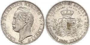 1 Талер Ангальт-Дессау (1603 -1863) / Анхальт (1806 - 1918) Срібло Леопольд IV Фрідріх фон Ангальт (1794 – 1871)