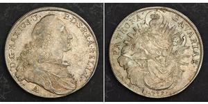 1 Талер Баварія (курфюрство) (1623 - 1806) Срібло Maximilian III Joseph, Elector of Bavaria (1727 – 1777)