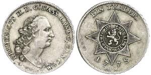 1 Талер Великое герцогство Гессен (1806 - 1918) Срібло