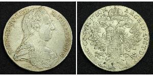 1 Талер Габсбурзька імперія (1526-1804) Срібло Maria Theresa of Austria (1717 - 1780)