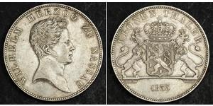 1 Талер Герцогство Нассау (1806 - 1866) Срібло Вільгельм (герцог Нассау)