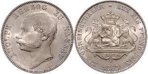 1 Талер Герцогство Нассау (1806 - 1866) Срібло Адольф I (великий герцог Люксембургу)
