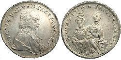 1 Талер Зальцбург Срібло Sigismund von Schrattenbach