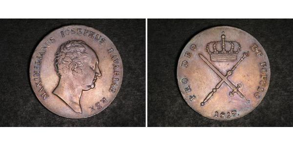 1 Талер Королівство Баварія (1806 - 1918) Срібло Максиміліан I (король Баварії) (1756 - 1825)