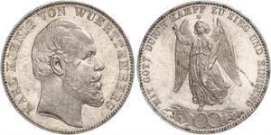 1 Талер Королівство Вюртемберг Срібло Charles I of Württemberg