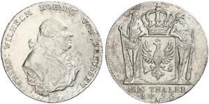 1 Талер Королівство Пруссія (1701-1918) Срібло Фрідріх-Вільгельм II