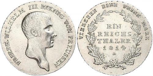 1 Талер Королівство Пруссія (1701-1918) Срібло Фрідрих Вільгельм III, король Пруссії  (1770 -1840)