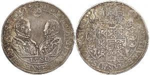 1 Талер Королівство Саксонія (1806 - 1918) Срібло