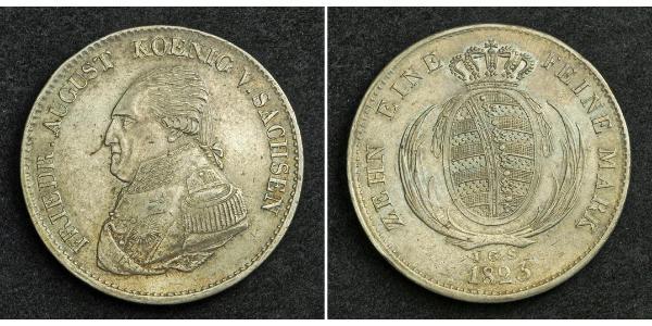 1 Талер Королівство Саксонія (1806 - 1918) Срібло Фрідріх Август І Саксонський