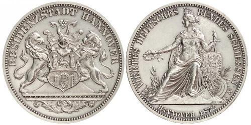 1 Талер Провінція Ганновер (1868 - 1946) Срібло