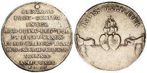 1 Талер Річ Посполита (1569-1795) Срібло Август II Фрідріх (1670 - 1733)