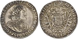 1 Талер Священна Римська імперія (962-1806) Срібло Ferdinand III, Holy Roman Emperor (1608-1657)