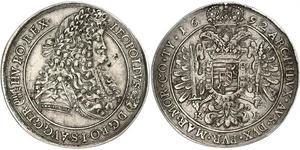 1 Талер Угорщина / Священна Римська імперія (962-1806) Срібло Леопольд I Габсбург(1640-1705)