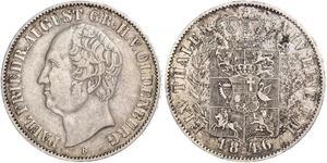 1 Талер Grand Duchy of Oldenburg (1814 - 1918) Срібло Август I (великий герцог Ольденбургу)
