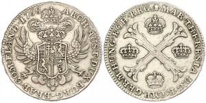 1 Талер / 1 Крона Австрийские Нидерланды (1713-1795) Серебро Maria Theresa of Austria (1717 - 1780)