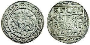 1 Тангка Индия Серебро