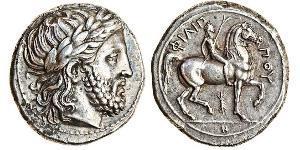 1 Тетрадрахма Древняя Греция (1100BC-330) Серебро Philip II of Macedon (382 BC - 336 BC)