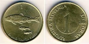 1 Толар Словения Латунь
