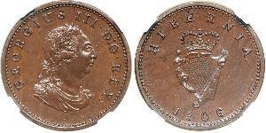1 Фартинг Ирландия (1922 - ) Медь Георг III (1738-1820)