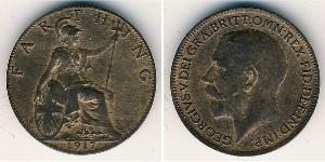 1 Фартинг Соединённое королевство Великобритании и Ирландии (1801-1922) Медь Георг V (1865-1936)