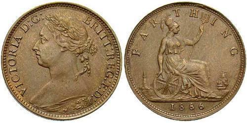 1 Фартінг Сполучене королівство Великобританії та Ірландії (1801-1922) Бронза Вікторія (1819 - 1901)