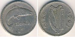 1 Флорин Ирландия (1922 - ) Никель/Медь