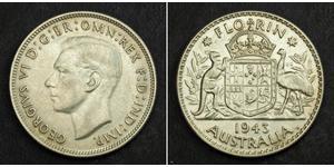 1 Флорин Австралия (1939 - ) Серебро Георг VI (1895-1952)