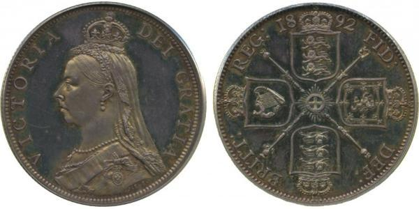 1 Флорин Соединённое королевство Великобритании и Ирландии (1801-1922) Серебро Виктория (1819 - 1901)