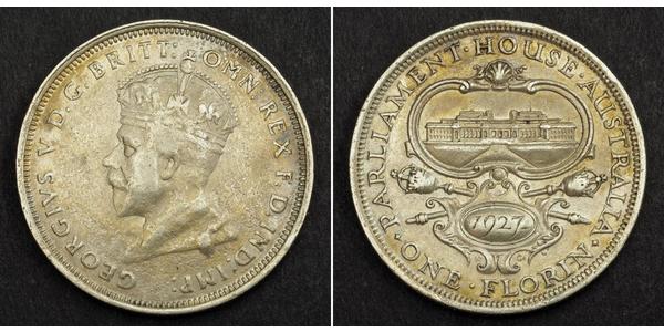 1 Флорін Австралія (1788 - 1939) Срібло Георг V (1865-1936)