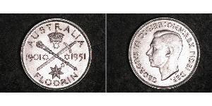 1 Флорін Австралія (1939 - ) Срібло Георг VI (1895-1952)