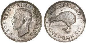 1 Флорін Нова Зеландія Срібло Георг VI (1895-1952)