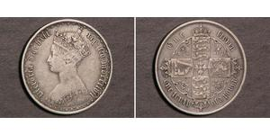 1 Флорін Сполучене королівство Великобританії та Ірландії (1801-1922) Срібло Вікторія (1819 - 1901)