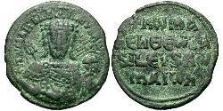 1 Фоллис Византийская империя (330-1453) Бронза Константи́ VII (905 -959)