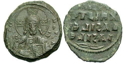 1 Фоллис Византийская империя (330-1453) Бронза Константин VIII (960-1028)
